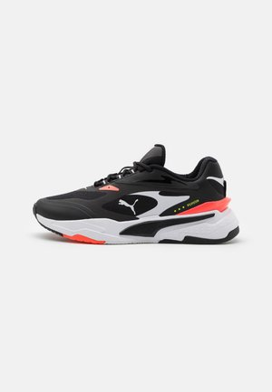 RS-FAST TECH UNISEX - Sneakers laag - black/white/fiery coral