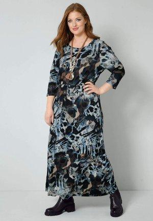 Maxi dress - blau/braun