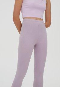 PULL&BEAR - Leggings - Trousers - purple - 4
