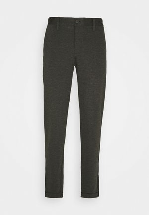 ONSMARK ZIP PANT - Trousers - dark grey melange