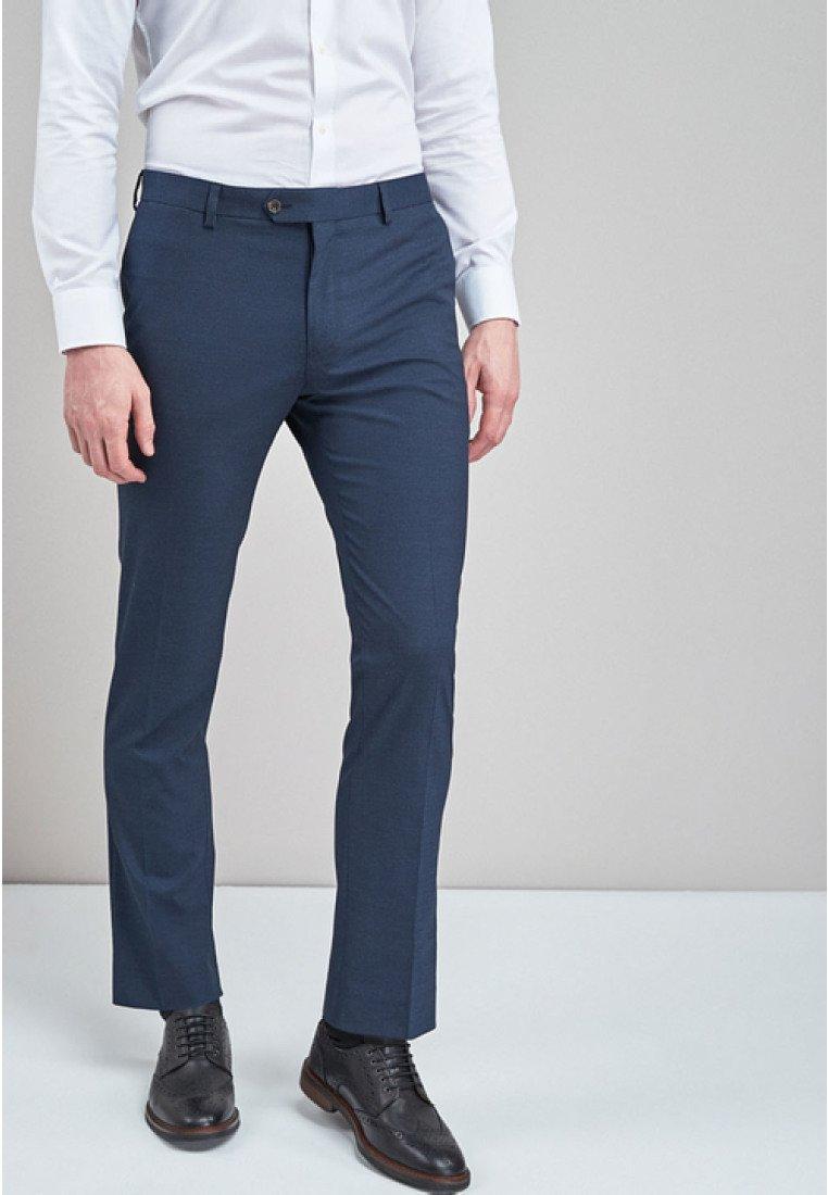 Next - Oblekové kalhoty - dark blue
