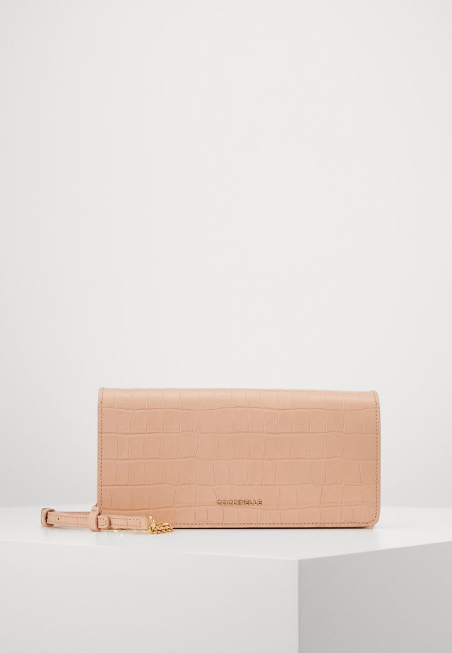 REVE CROCO SHINY CLUTCH - Olkalaukku - rose