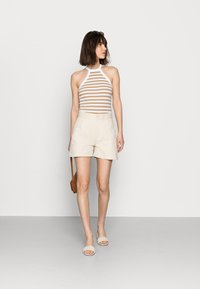 Selected Femme - SLFANALIPA TOP STRIPE - Top - bright white/ kelp - 1