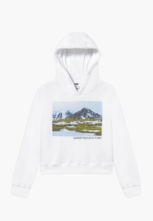 KIDS LOCAL PLANET CROPPED - Hoodie - white