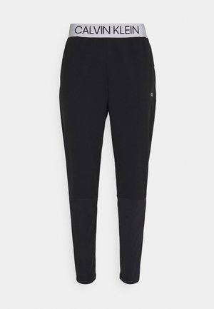 MIX FABRIC PANT UNISEX - Tracksuit bottoms - black