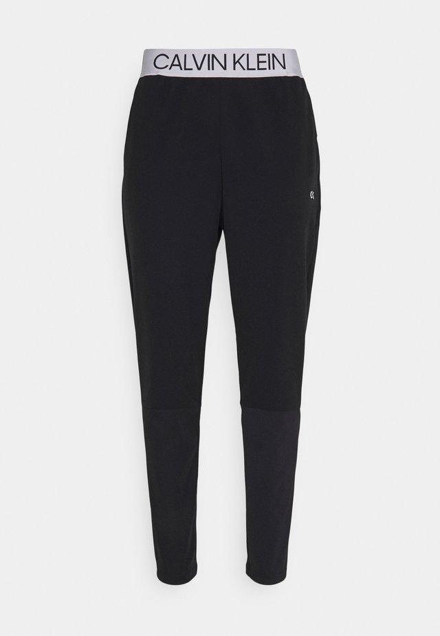 MIX FABRIC PANT UNISEX - Teplákové kalhoty - black