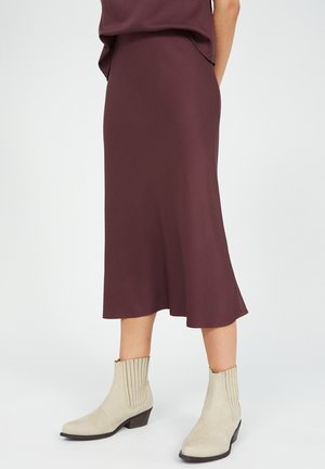 DEVORAA - A-line skirt - aubergine