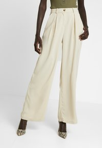Vero Moda Tall - VMCOCO WIDE PANT - Trousers - oyster gray - 0