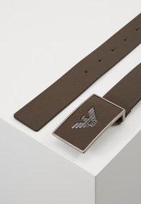 Emporio Armani - CINTURA  PLATE BELT - Belt - dark tan - 2