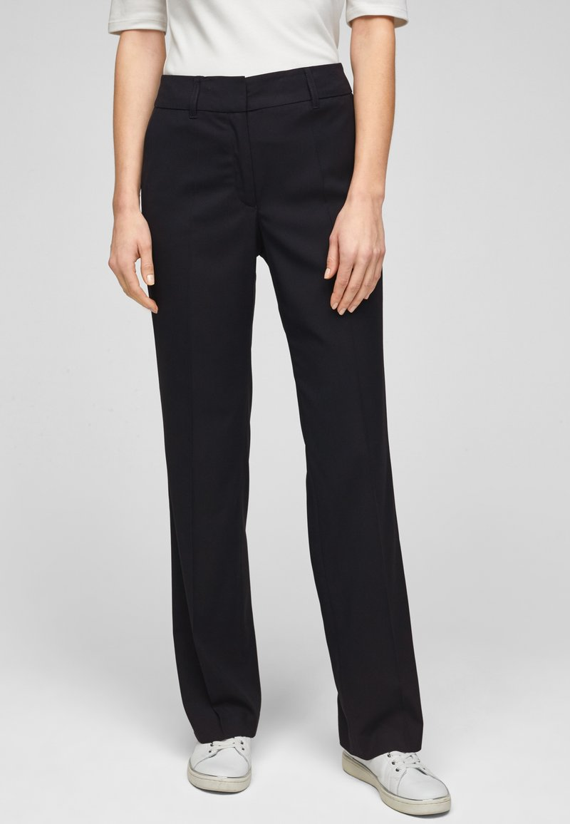 s.Oliver BLACK LABEL - Trousers - navy