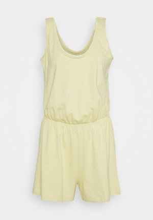 SLUB CROCHE - Jumpsuit - light yellow