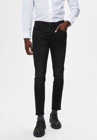 Selected Homme - Jeans Skinny Fit - black denim - 0