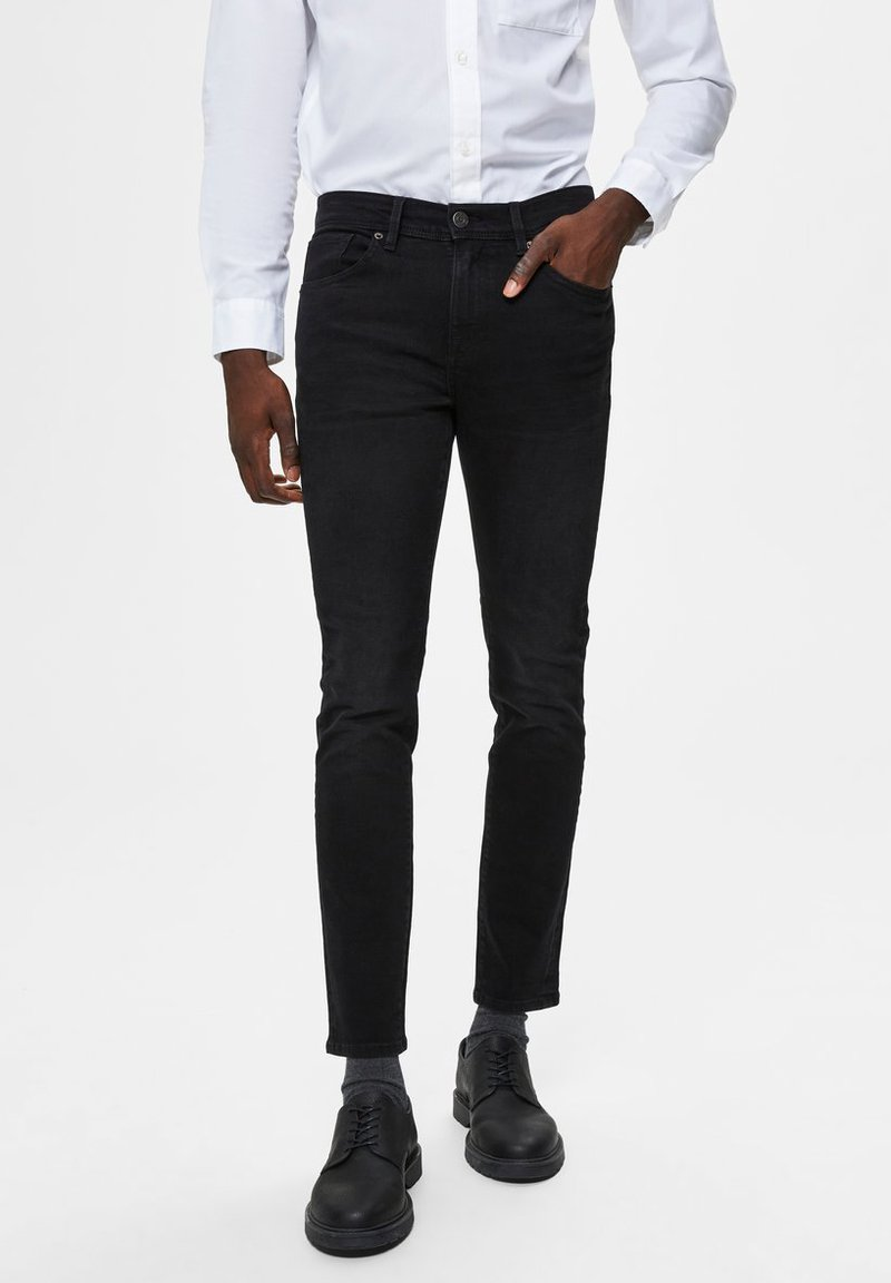 Selected Homme - Jeans Skinny Fit - black denim