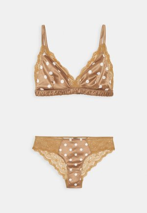 AGATA BRA SET - Triangle bra - brown