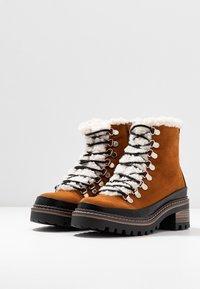 Madden Girl - JACK - Platform ankle boots - whiskey - 4