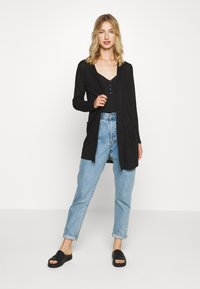 Pieces - PCMISSY MIDI CARDIGAN - Cardigan - black - 1