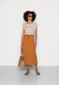 Esprit - SKIRT - A-line skirt - caramel - 1
