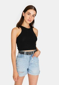 Stradivarius - Belt - black - 2