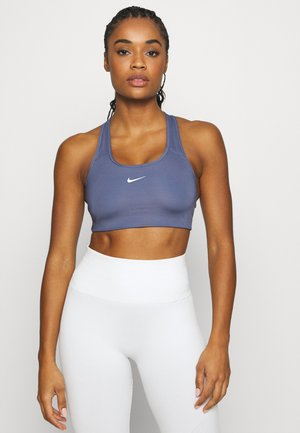 BRA PAD - Medium support sports bra - world indigo/white