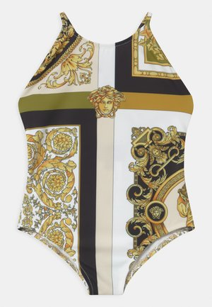 BEACHWEAR BAROCCO MOSAIC - Costume da bagno - white/gold/kaki