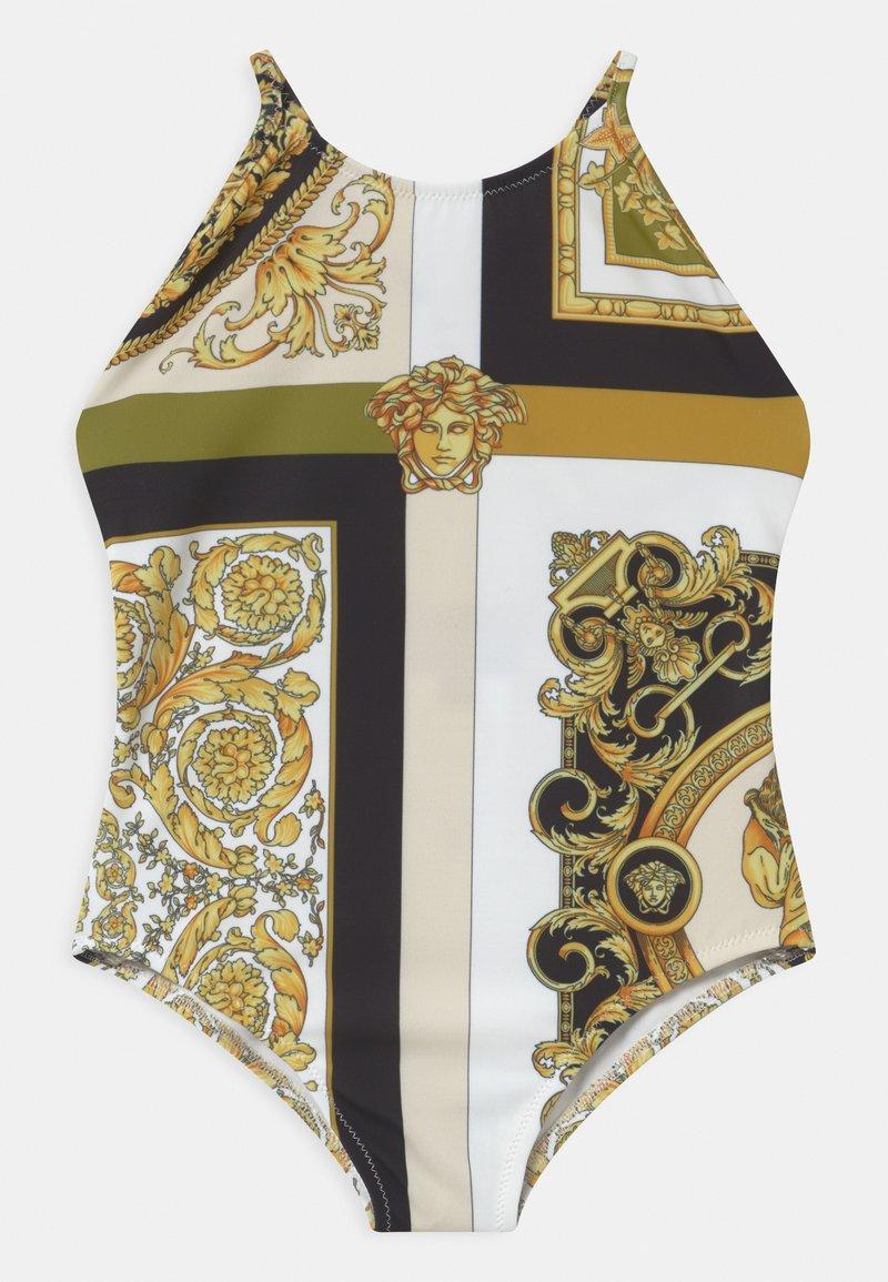 Versace - BEACHWEAR BAROCCO MOSAIC - Swimsuit - white/gold/kaki
