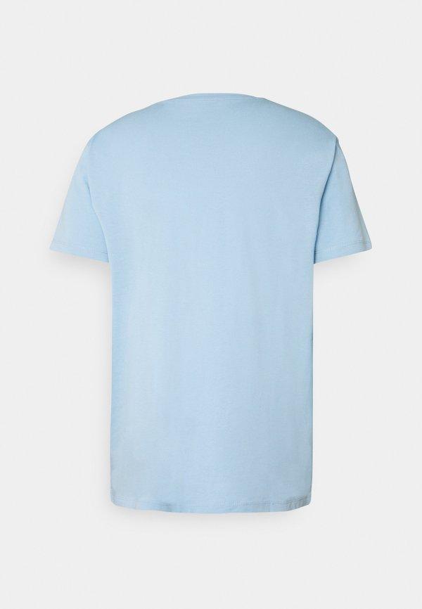 Esprit LOGO - T-shirt z nadrukiem - light blue/jasnoniebieski Odzież Męska TQFH