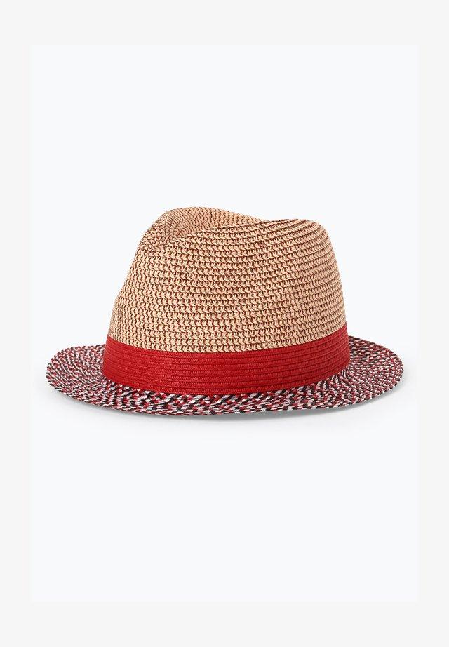 Hat - beige rot