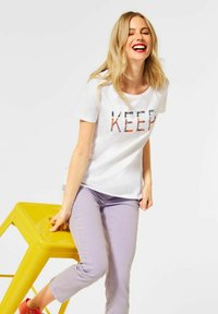 Street One - Print T-shirt - weiß - 1