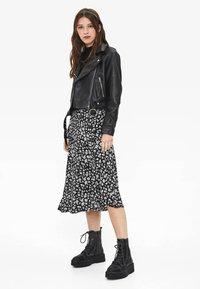 Bershka - Faux leather jacket - black - 1