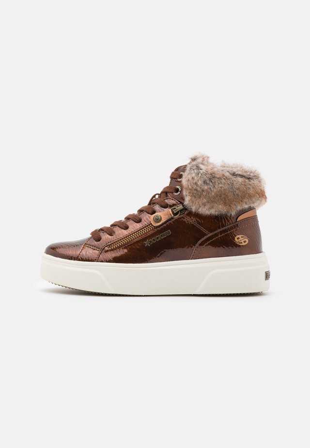 Sneakers high - cognac
