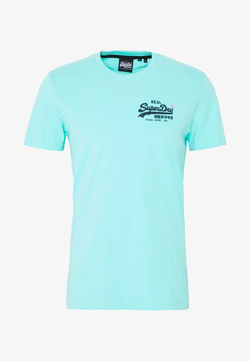 Superdry - PASTELINE TEE - Print T-shirt - pool blue