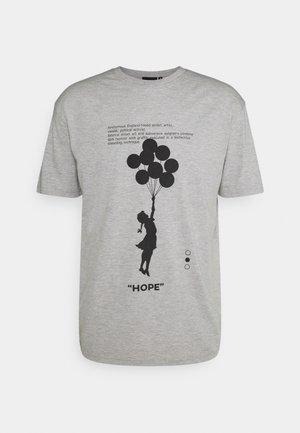 BANKSY HOPE - Print T-shirt - grey marl