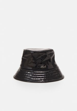 SIGNATURE PATENT BUCKET HAT - Hatt - black