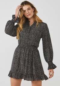 Aaiko - COLBY MINIMAL PES 564 - Button-down blouse - black dessin - 0
