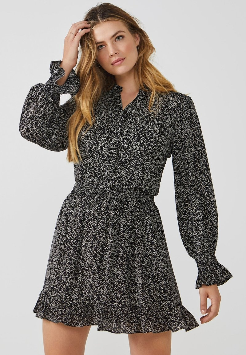 Aaiko - COLBY MINIMAL PES 564 - Button-down blouse - black dessin