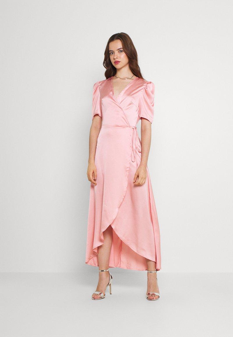 Missguided - HIGH LOW PUFF MIDI DRESS  - Maxi dress - blush