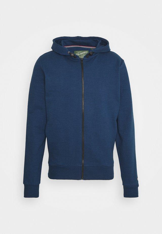 Zip-up hoodie - petorl blue