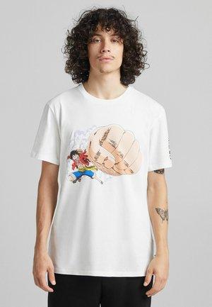 ONE PIECE REGULAR FIT - T-shirt imprimé - white