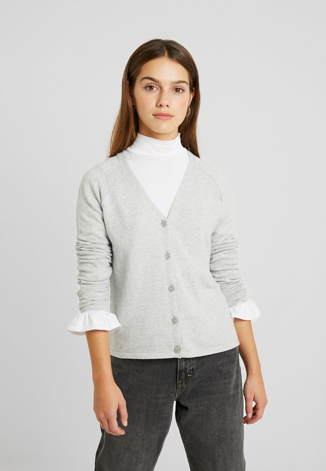 CARDIGAN - Neuletakki - medium grey