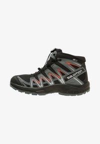 Salomon - XA PRO 3D MID J - Hiking shoes - black/stormy weather/cherry tomato - 1