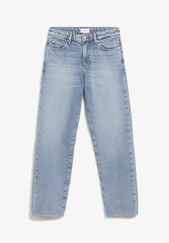 FJELLAA - Straight leg jeans - mid blue