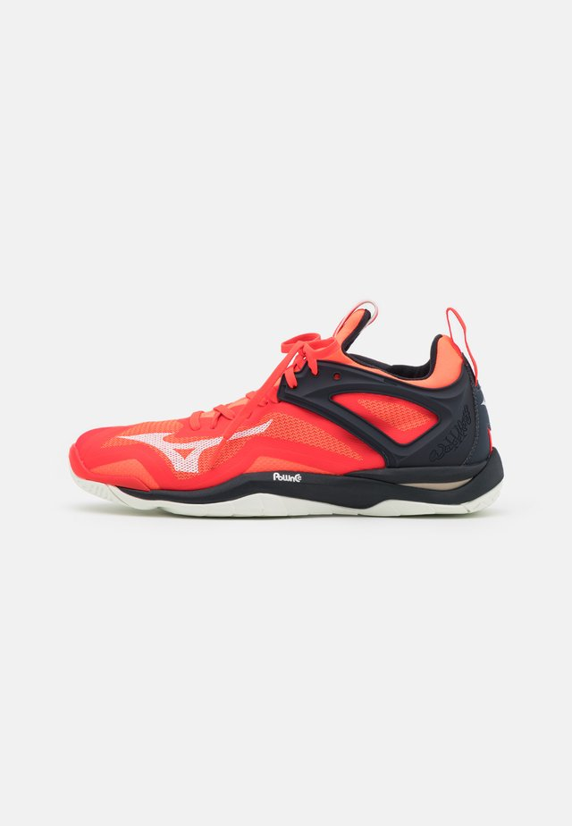 WAVE MIRAGE 3 - Handball shoes - ignition red/white/salute