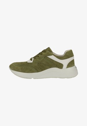 Sneakers laag - moss/white