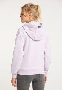 Schmuddelwedda - Zip-up sweatshirt - rauchlila melange - 2