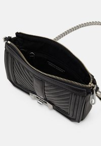 Rebecca Minkoff - CHEVRON QUILTED MINI LOVE SHOULDER - Across body bag - black - 4