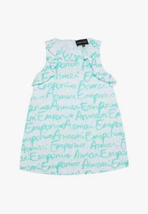 VESTITO - Koktejlové šaty/ šaty na párty - white/turquoise