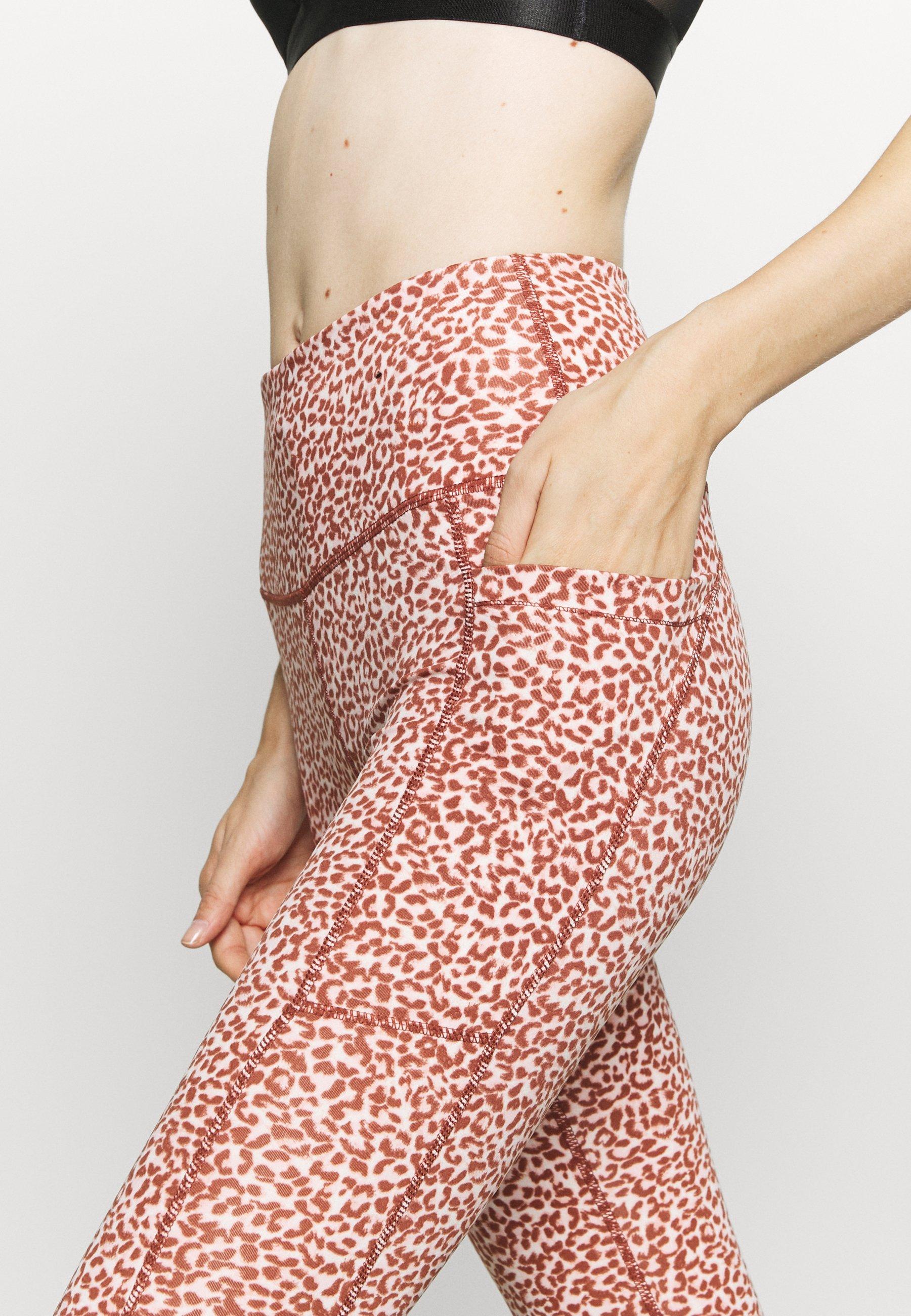 Cotton On Body LOVE YOU A LATTE  - Leggings - red melange 5DBgG