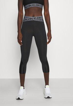 CROPPED - Collants - black/bright white
