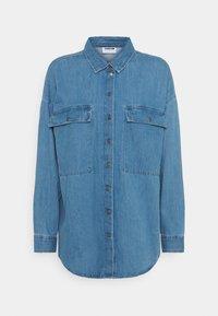 Noisy May - NMFLANNY LONG SHACKET - Skjorte - medium blue denim - 0