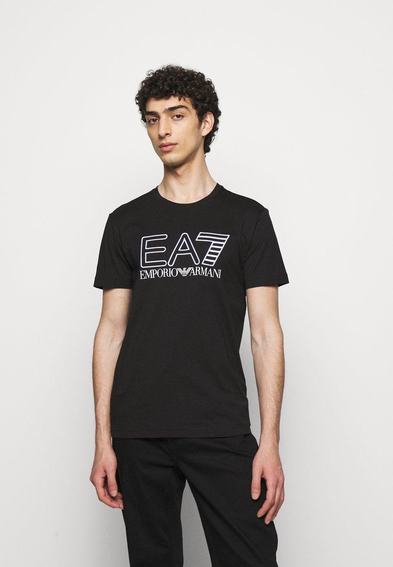 EA7 Emporio Armani - T-shirts print - black/white